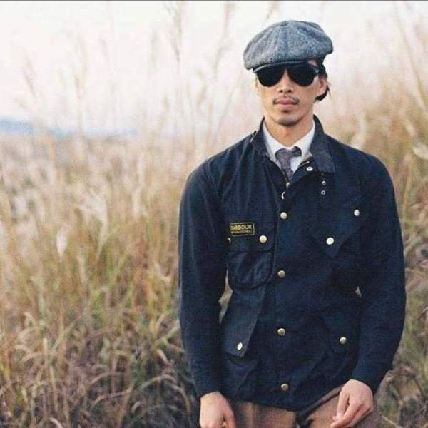Barbour international 机车涂蜡夹克